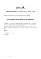 Fællesudvalgsmøde – rekruttering, indslusning og fastholdelse – 8. februar 2017